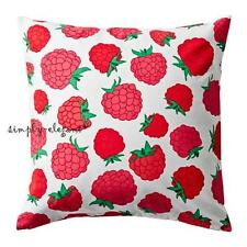 "IKEA Sommar Cushion Cover Set of 2 Pillow Covers 20 x 20"" Raspberry Pink Red New"