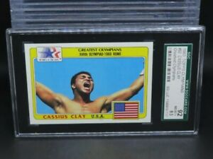 1983 Topps Olympians Cassius Clay Greatest Olympians #92 SGC 92 8.5 R302