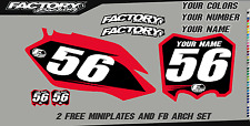 Honda CRF150R 07- 16 Pre Printed Number plate Backgrounds BASIC SERIES
