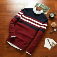 Autumn Winter Men Slim Knit O Neck Pullover Jumper Sweater Tops T Shirt