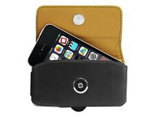 Cellet Black Leather Horizontal Noble Case Pouch For Apple iPhone 4 / 4S
