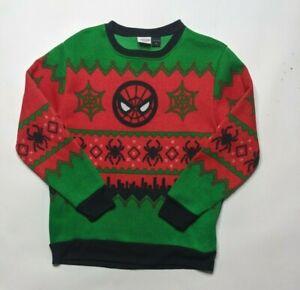🕸 Marvel SPIDERMAN Ugly Christmas Sweater / Sweatshirt * Size Boys XL * VGUC 🕸