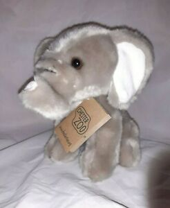 *Used soft toy Chester Zoo with tag Elephant 7 inch*