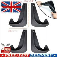 4 X FRONT REAR PVC RUBBER MOULDED CAR UNIVERSAL MUD SPLASH GUARD FLAPS W/ CLIPS