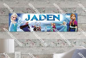 Personalized/Customized Frozen #3 Name Poster Wall Art Decoration Banner