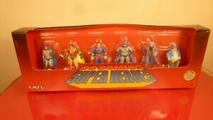 1990 DIECAST METAL FIGURES SET: SUPERMAN BATMAN ROBIN JOKER PENGUIN: NEW IN BOX