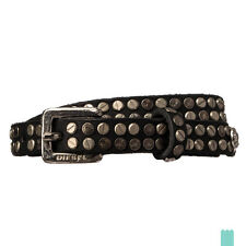 RRP €135 DIESEL Size 90 / 36 BLAXE Studded 100% Leather Belt Made in Italy