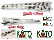 Kato 20-203 N.1 Scambio Elettrico Destro 15° R718 con capa de balasto y el cable