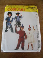 "PATRON  ""McCALL'S COSTUMES COWBOYS INDIENS  ENFANT TAILLE 3-4 ANS"