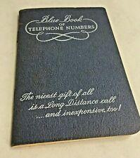 Vintage 1950s SOUTHERN Bell Blue Book Of Telephone Numbers Unused
