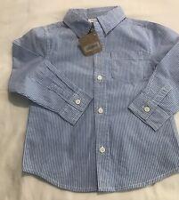 Crazy8 Toddler Boy's Long Sleeve Striped Dress Shirt 3T NWT