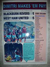 Blackburn Rovers 1 West Ham United 5 - 2016 FA Cup - souvenir print