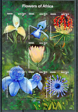 Ghana 2014 MNH Flowers of Africa 7v M/S Flora Disa Flame Lily Sugarbush Protea