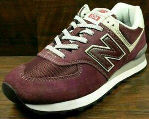Size 7.5 New Balance 574 men's burgundy sports gym trainers / EU 41.5 sneakers