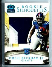 2014 Crown Royale Rookie Silhouettes Odell Beckham Jr. Rookie D # 32/49 Giants