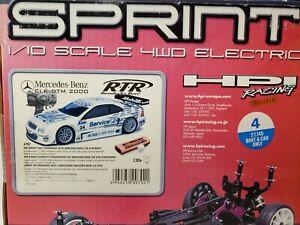 HPI RACING RTR SPRINT 4WD ELECTRIC RACE CAR W/ MERCEDES CLK DTM 2000 BODY 1/10