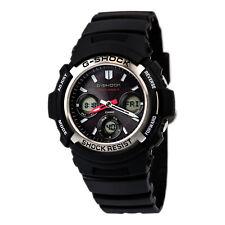 Casio Men's Watch G-Shock Digital-Analog Dial Round Black Resin Strap AWGM100-1A