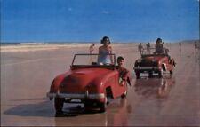 Daytona Beach FL Midgets Cars on Beach Bathing Beauty Old Postcard