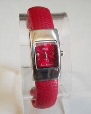 Ladies designer style  small Leather Bangle Cuff Quartz Fashion Watch