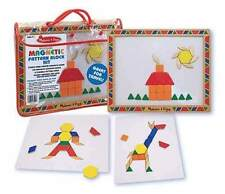 New Melissa & Doug Wooden Magnetic Pattern Block Kit #3590 - Free Shipping