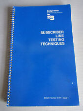 1975 Badger Meter Subscriber Line Testing Techniques Telephone Systems Sudheimer