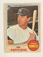1968 Topps Joe Pepitone Card #195 EX/NM - NYY