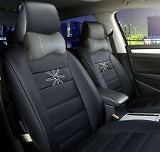 Protech Car seat Headrest Neck pillow Cushion Leather 2pcs Gray