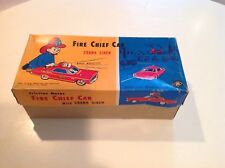 Friction Modern Toys Fire Chief with Siren Vintage BOX