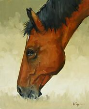 Original Oil painting - wildlife art - horse portrait  by UK artist j payne