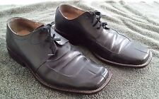 Olivier Black Leather Shoes Italy Size 10.5 Mens Work Patina prop Aged