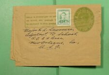 DR WHO 1949 NEW ZEALAND NAPIER UPRATED STATIONERY WRAPPER TO USA  f87784