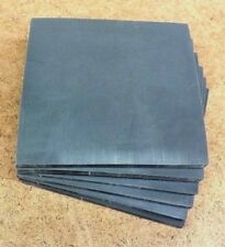 Silicone Rubber Sheet US Mil Spec 1/4''Thk x 4-1/2'' Square Pad 80D Firm Flex