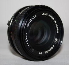 Minolta MC Rokkor-PF 50mm f/2.0 Lens - Minolta SR Mount - vgc