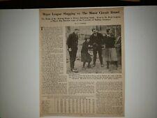 Gabby Hartnett Tim McNamara 1925 BBM Sheet RARE!