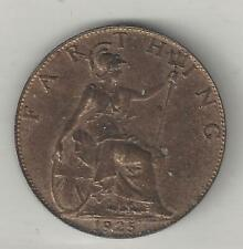 GREAT BRITAIN, 1925,  FARTHING,  BRONZE,  KM#825,  UNCIRCULATED