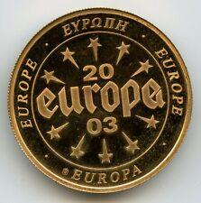 Medaille Belgique - Europa 2003