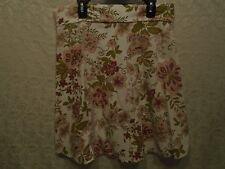 Styles Multi-Color Paisley Floral Knee Length Skirt Size Small