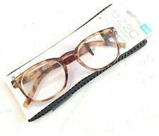 +2.50 Marbleized Light Brown Tortoise Foster Grant EZ2C Advanced Reading Glasses