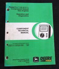2001 JOHN DEERE 9650 9750 STS COMBINE 6.8 8.1L GAS ENGINE OPERATION DIAG MANUAL