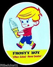 """FROSTY BOY"" OFTEN LICKED - NEVER BEATEN VINYL Sticker / Decal Ice Cream"