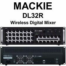 MACKIE DL32R iOS App 32 Channel Wireless Direct Drive Recording Digital Mixer