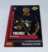 2019 20 LOS ANGELES LAKERS PANINI INSTANT NBA CHAMPIONS #4 DEVONTAE CACOK