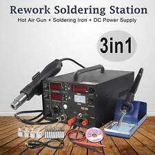853D 3 in 1 SMD DC Power Supply Hot Air Iron Gun Rework Soldering Station Welder