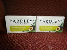 Set of 2 Yardley London Aloe & Avocado bar soap 4.25oz