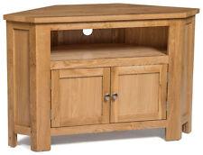 oak tv entertainment corner units