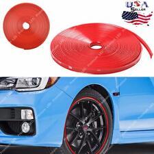8M Red Car Wheel Hub Rim Edge Protector Ring Tire Strip Guard Rubber Sticker NEW