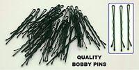 4.5cm Short Black Waved Hair Pins Bobby Pins Grips Kirby Bun Clip Clips Grip