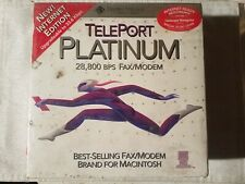 Global Village TELEPORT PLATINUM fax/modem Power Macintosh Brand New Sealed