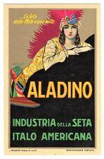 POSTCARD ITALIAN MAUZAN ALADINO SILK ADVERTISING (0219)