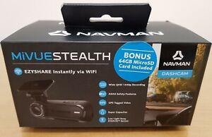 NAVMAN MiVue STEALTH Dashcam FREE 64GB Micro SD Card QHD 1440p Video Recording
